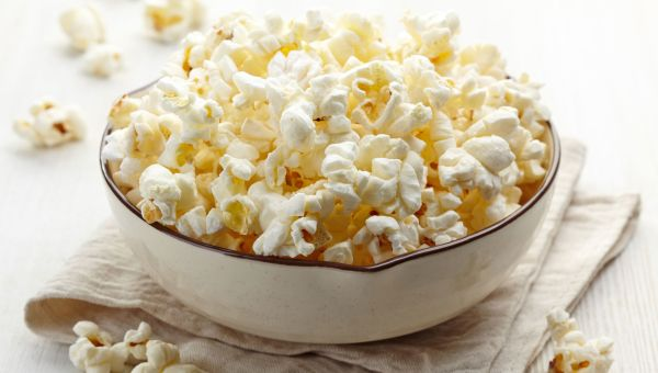 Snack on air-popped popcorn