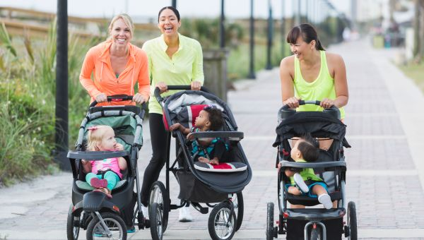 Parents don't exercise alone