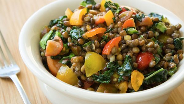 Steamed and fully cooked lentils