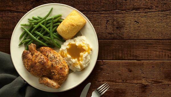 Boston Market:Rotisserie Chicken with Veggies