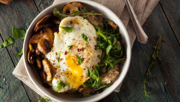 Breakfast: oatmeal