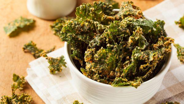 Snack: kale chips
