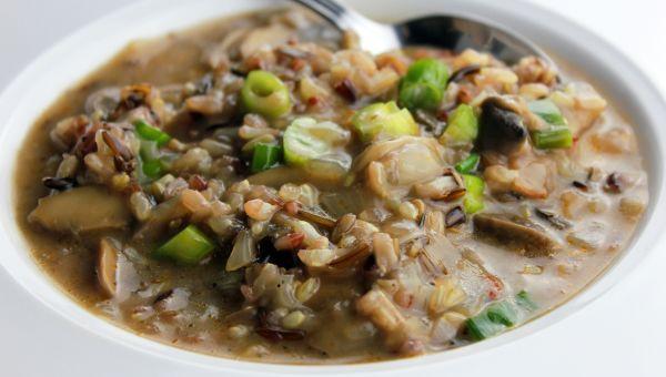 Stir wild rice in soups