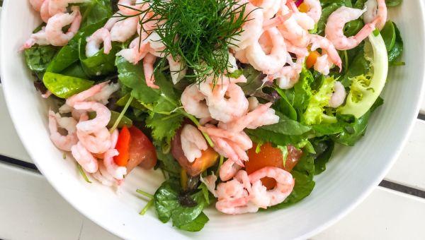 Radicchio Salad with Lemon-Herb Grilled Shrimp Recipe