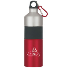 25 Oz Two-Tone Aluminum Bottle with Rubber Grip