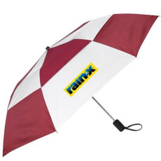 Logo Gusto Vented Auto Open Folding Umbrella
