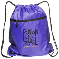 Mesh Drawstring Backpack