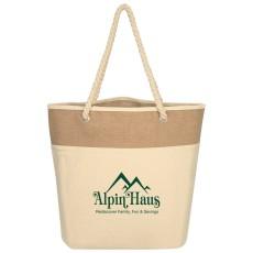 Burlap Rope Tote Bag