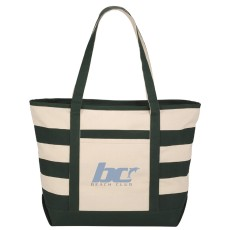 10 oz. Zippered Stripe Tote