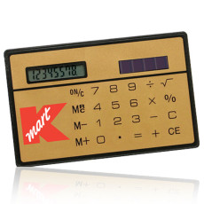 Custom Inscribed Slim Solar Calculator