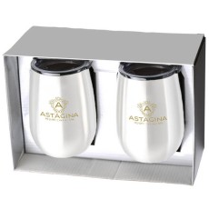 Stainless Steel Stemless Wine Tumbler Gift Set