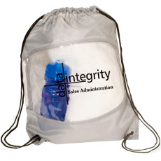 Imprinted Clear-View Drawstring Bag