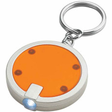 Imprinted Round LED Key Chain