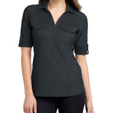 Port Authority Ladies Oxford Pique Double Pocket Polo (Apparel)
