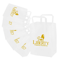 Custom Frosted Tri-fold Handle Shopping Bags