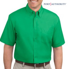 Mens Logo Short Sleeve Easy Care Shirt