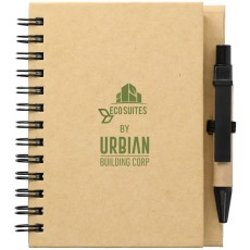 "4"" X 5"" Eco Stone Notebook With Pen"