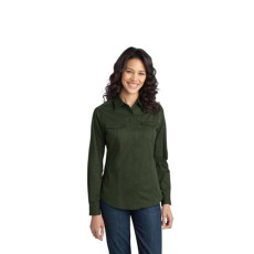 Port Authority - Ladies Stain-Resistant Roll Sleeve Twill Shirt