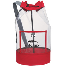 Promotional Clear Barrel Sling Bag