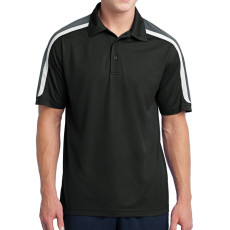 Sport-Tek Tricolor Shoulder Micropique Sport-Wick Polo (Apparel)