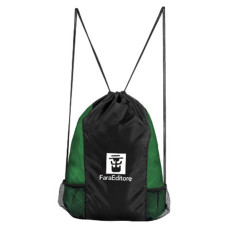 Printed Cinch Drawstring Backpack