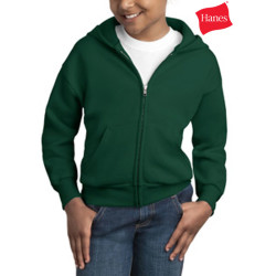Hanes Youth Comfortblend Zip Hooded Sweatshirt