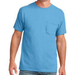 Port & Company 5.4-oz 100% Cotton Pocket T-Shirt