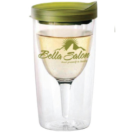 10 oz Acrylic Wine2Go Tumbler With Lids