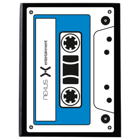 Imprinted Iconic Cassette Notebook