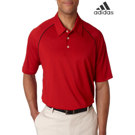 Adidas ClimaLite Piped Pique Colorblock Polo