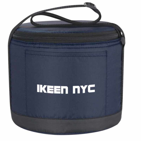 Printed Cans-To-Go Round Kooler Bag