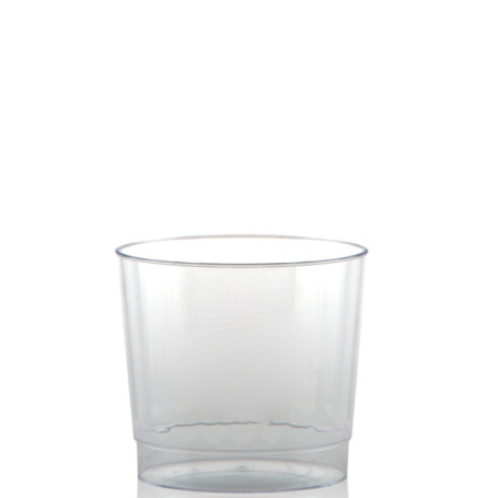 9 oz. Clear Fluted Plastic Cups