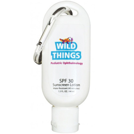 Custom 1.5oz. SPF 30 Sunscreen Tottle with Clip
