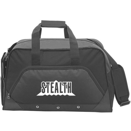 Custom Sports Duffel Bag - Black printed