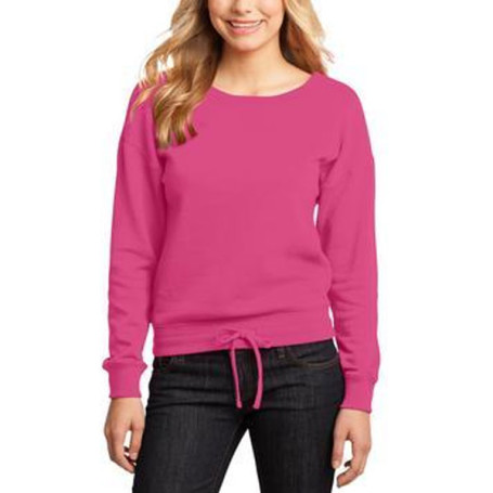 District-Juniors Core Fleece Wide Neck Pullover