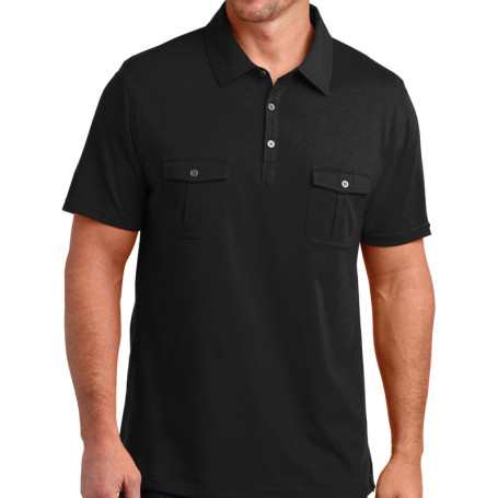 District Made Mens Double Pocket Polo (Apparel)