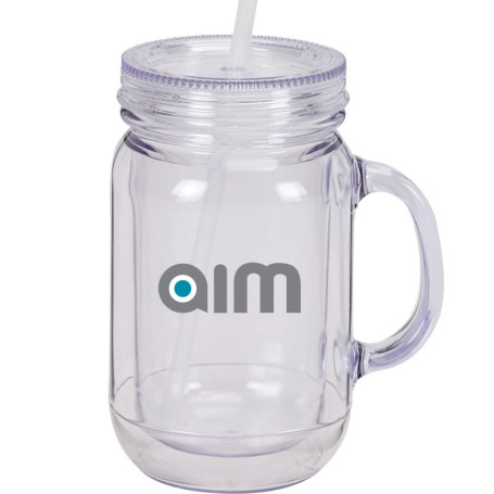 16 oz Double Wall Acrylic Mason Jar