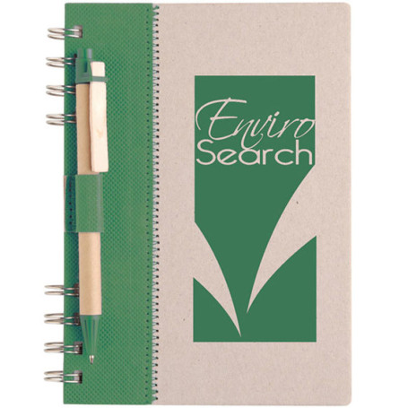 Engraved Recycled Terra Notebook Combo
