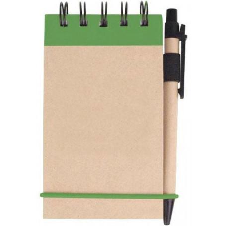 Custom V Natural™ Kraft Jotter w/ Pen