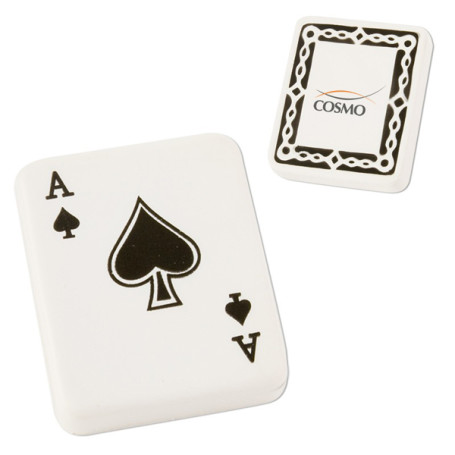 Imprinted Ace of Spades Playing Card Stress Reliever