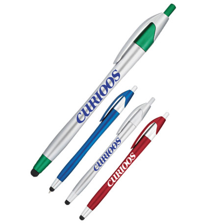 Imprinted Cougar Pen with Stylus-Glamour
