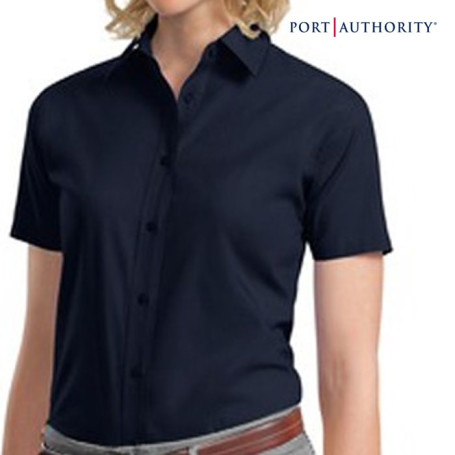Ladies Imprinted Short Sleeve Dress Shirt