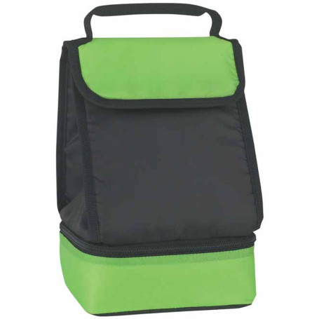 Logo Dual Compartment Lunch Bag