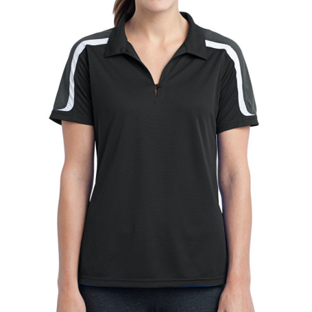 Sport-Tek Ladies Tricolor Shoulder Micropique Sport-Wick Polo (Apparel)
