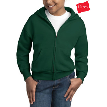 Hanes Youth Full Zip Sweatshirt