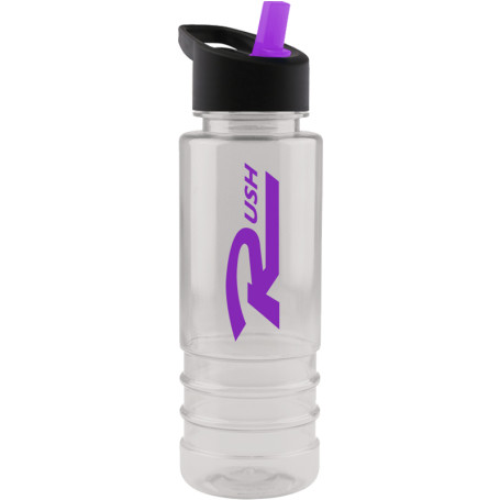 Printed Salute 24 oz. Tritan Bottle with Flip Straw Lid