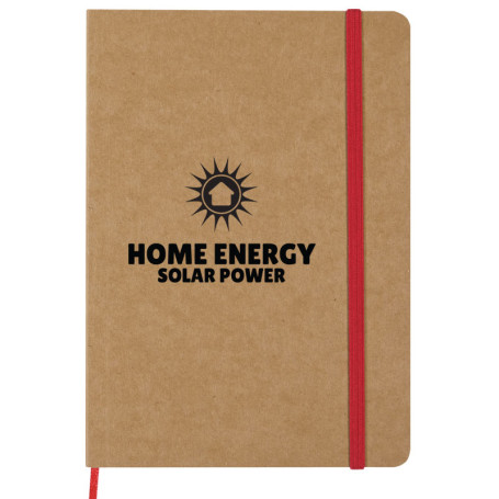 "Promotional 5"" x 7"" Eco Inspired Strap Notebook"