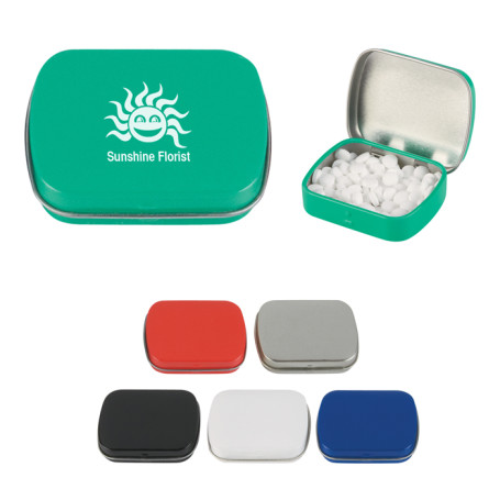 Promotional Peppermints In Rectangle Tin