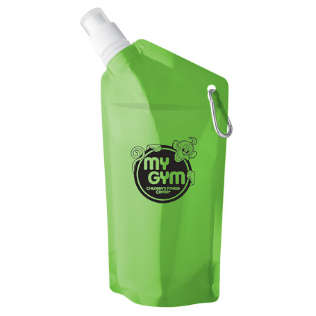 Custom 20 oz Sip & Store Collapsible Water Bag