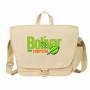 "Personalized ""eGREEN"" Canvas Messenger Bag"